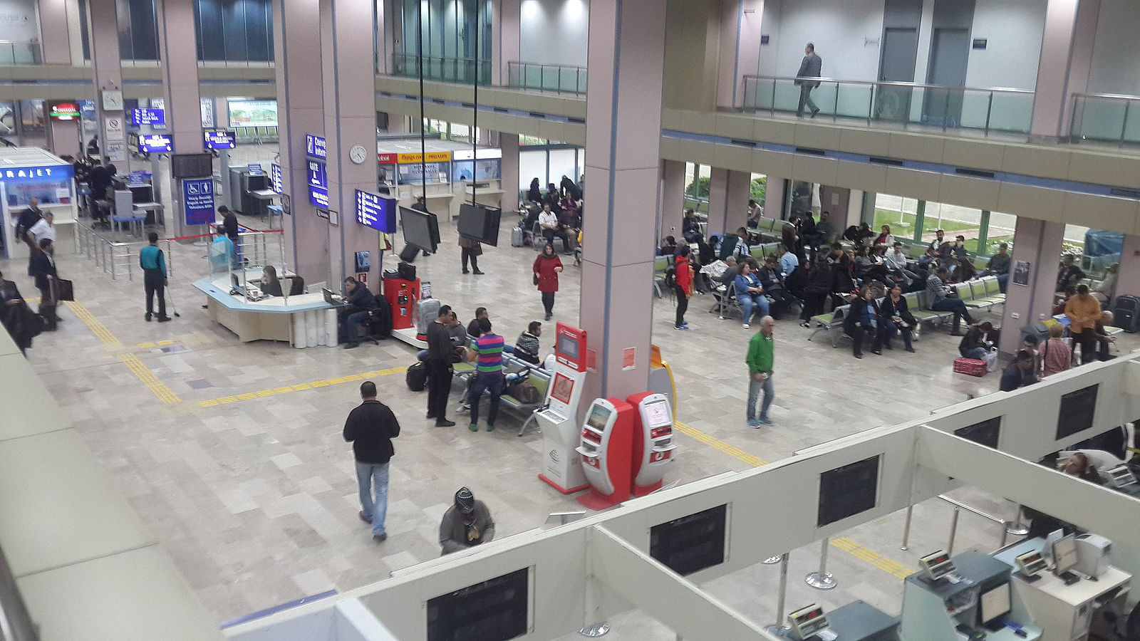 Adana Airport consists of a couple of passenger terminals.