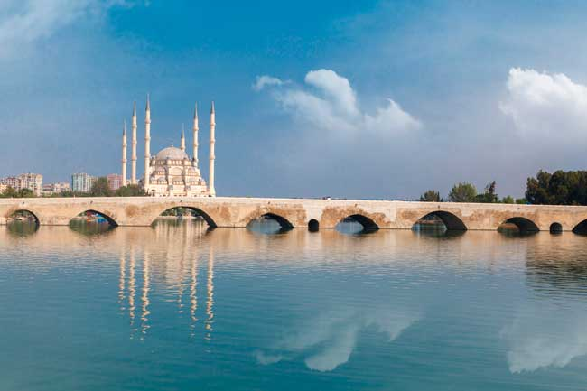 The Roman Stone Bridge is one of the most recognizable sightseeing of Adana.
